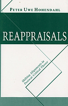 Reappraisals : shifting alignments in postwar critical theory