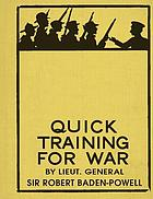 Quick training for war : a few practical suggestions illustrated by diagrams