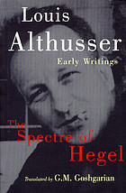 The spectre of Hegel : early writings