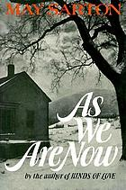 As we are now; a novel