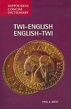 Twi-English/English-Twi dictionary