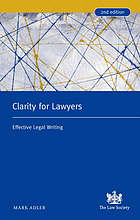 Clarity for lawyers : effective legal writing