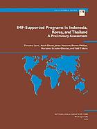 IMF-supported programs in Indonesia, Korea, and Thailand : a preliminary assessment