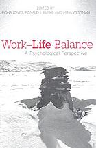 Work-life balance : a psychological perspective
