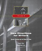New directions for writers