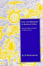 Law and morality in ancient China : the silk manuscripts of Huang-Lao