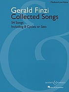 Collected songs : 54 songs, including 8 cycles or sets
