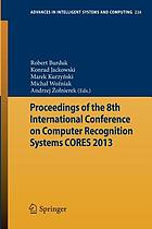 Proceedings of the 8th International Conference on Computer Recognition Systems CORES 2013