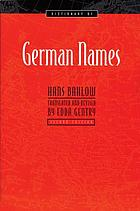 Dictionary of German names