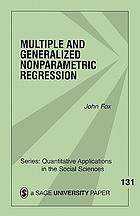 Multiple and Generalized Nonparametric Regression cover image
