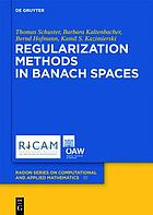 Regularization methods in Banach spaces