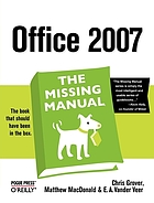 Office 2007 : the missing manual