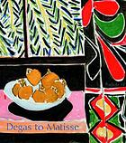 Degas to Matisse: impressionist and modern masterworks [from the Detroit Institute of Arts : exhibition at The Phillips Collection, Washington, D.C., September 23, 2000-January 21, 2001].