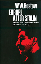 Europe after Stalin : Eisenhower's three decisions of March 11, 1953