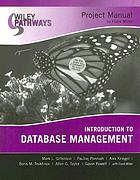 Introduction to database management : project manual