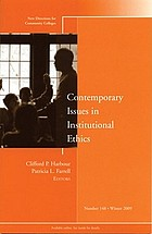 Contemporary issues in institutional ethics