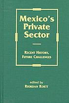 Mexico's private sector : recent history, future challenges