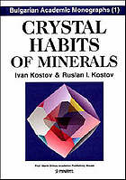 Crystal habits of minerals