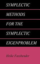 Symplectic methods for the symplectic eigenproblem