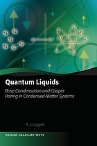 Quantum liquids : Bose condensation and Cooper pairing in condensed-matter systems