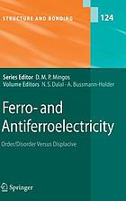 Ferro- and antiferroelectricity : order/disorder versus displacive