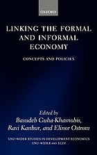 Linking the formal and informal economy : Concepts and policies.