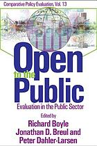 Open to the public : evaluation in the public arena