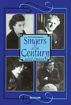 Singers of the century. Volume 3