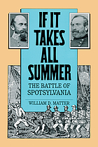 If it takes all summer : the battle of Spotsylvania