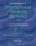 International smoking statistics: a collection of historical data from 30 economically ... ; ed. by.