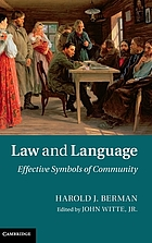 Law and language : effective symbols of community