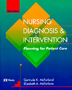 Nursing diagnosis & intervention : planning for patient care