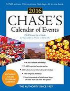 Chase's Calendar of Events 2016.