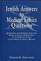 Jewish answers to medical ethics questions