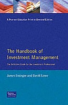 Handbook of investment management : the definitive guide for the investment professional