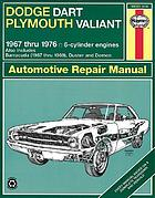 Dodge Dart & Plymouth Valiant automotive repair manual