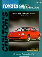 Chilton's Toyota Celica 1994-98 repair manual