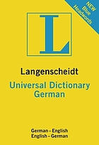 Langenscheidt universal German dictionary : German-English, English-German