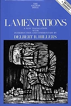 Lamentations : a new translation with introduction and commentary