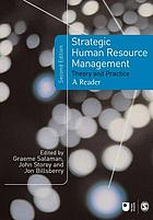 Strategic human resource management : theory and practice