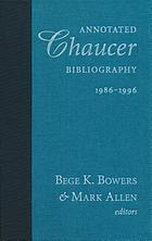 Annotated Chaucer bibliography, 1986-1996