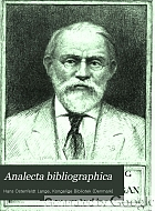 Analecta bibliographica;