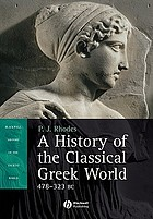 A History of the Classical Greek World: 478-323 B.C. cover image