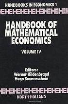 Handbook of mathematical economics.