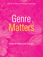 Genre matters : essays in theory and criticism
