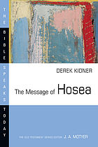 Love to the loveless : the message of Hosea