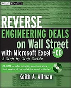 Reverse engineering deals on Wall Street with Microsoft Excel : a step-by-step guide