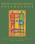 Essentials of research methods in psychology
