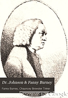 Dr. Johnson & Fanny Burney.