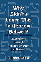 Why didn't I learn this in Hebrew school? : excursions through the Jewish past and present